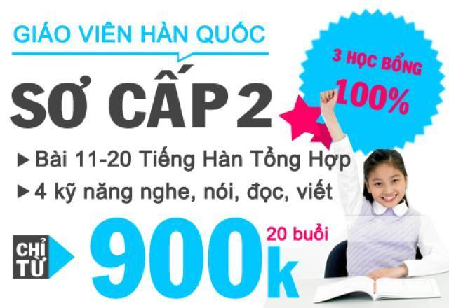 Lớp dạy tiếng Hàn sơ cấp 2 hiệu quả tại Hà Nội