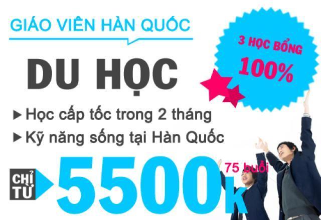 Lịch khai giảng tháng 5/2016 - Lớp tiếng Hàn du học cấp tốc