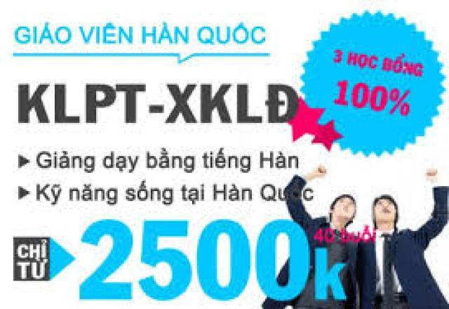 Lịch khai giảng tháng 7/2016 - Lớp tiếng Hàn KLPT - XKLĐ