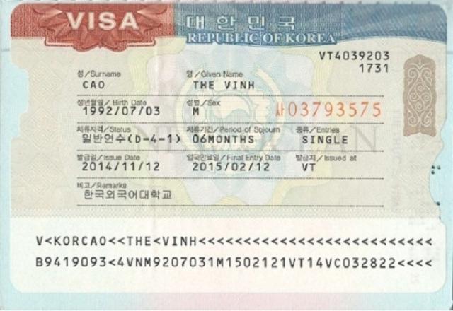 Từ vựng tiếng Hàn & hội thoại về các thủ tục xin visa du học
